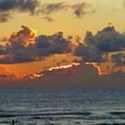 Orange Sunset Oregon Poster