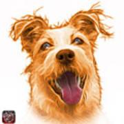 Orange Terrier Mix 2989 - Wb Poster