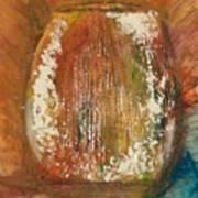 Orange Vase Poster by Gregory Dallum