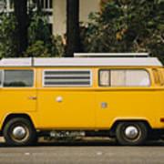Orange Vw Bus Poster