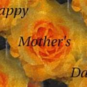 Orange You Lovely Mothers Day Poster