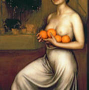 Oranges And Lemons Poster by Julio Romero de Torres