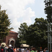 Orangutan Swings Over Tourists At The National Zoo In Washington Poster