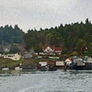 Orcas Island Dock Digital Poster