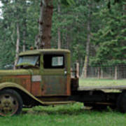 Orcas Island Old Truck Poster