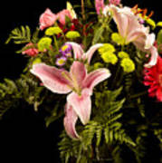 Orchid Arrangement In Color  Poster