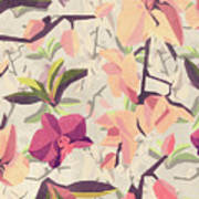 Orchid Pattern Poster
