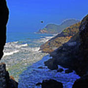 Oregon Coast From Sea Lion Caves Poster