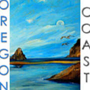 Oregon Coast Graphics Poster