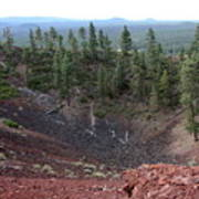 Oregon Landscape - Crater At Lava Butte Poster