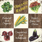 Organic Market Patch Poster