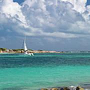 Orient Beach Catamaran Poster