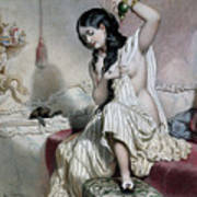 Oriental Woman At Her Toilet Poster