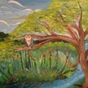 Original Acrylic Artwork By Mimi Stirn - Hoomasters Collection Hoomonet #413 Poster