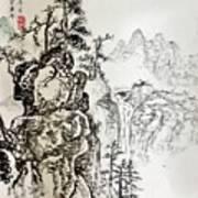 Original Chinese Nature Scene Poster