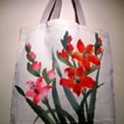 Original Hand Painted Tote Bag Poster