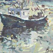 Original Lobster Boat Painting Poster