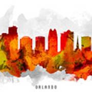 Orlando Florida Cityscape 15 Poster