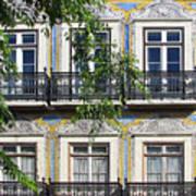 Ornate Building Facade In Lisbon Portugal Poster