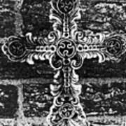 Ornate Cross 3 Bw Poster