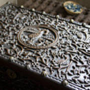 Ornate Wooden Chest Poster