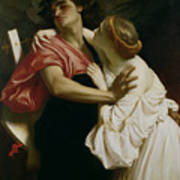 Orpheus And Euridyce Poster by Frederic Leighton