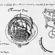 Orrery By Stephen Hales, 1705 Poster
