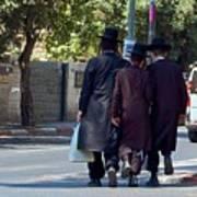 Orthodox Jews In Jerusalem Poster