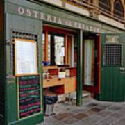 Osteria Al Pesador At The Rialto Market In Venice, Italy Poster