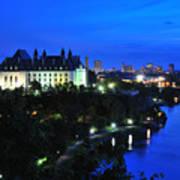 Ottawa At Night Poster