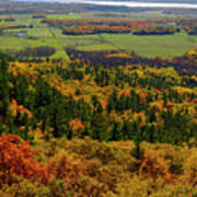 Ottawa River Valley In Fall At Tawadina Lookout At End Of Blanch Poster