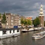 Oudeschans And Montelbaanstoren. Amsterdam. Netheralnds. Europe Poster