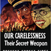 Our Carelessness - Their Secret Weapon Poster by War Is Hell Store