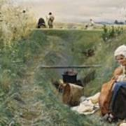 Our Daily Bread Anders Zorn Poster