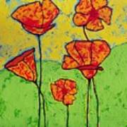 Our Golden Poppies Poster