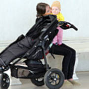 Out Of The Baby Stroller -- A Mother And Daughter Poster
