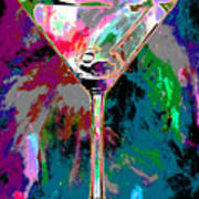 Out Of This World Martini Poster