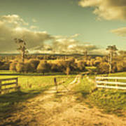 Outback Country Paddock Poster