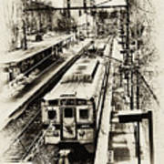 Outbound Train Poster
