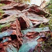 Outcrop At Wildcat Den Poster