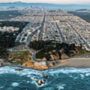 Outer Richmond San Francisco Aerial Poster