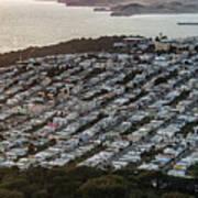 Outer Richmond San Francisco Aerialouter Richmond San Francisco Aerial Poster