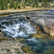 Outlet Firehole Lake Poster