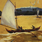 Outrigger Off Shore Poster