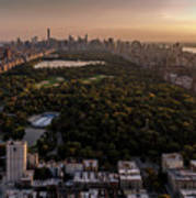 Over The City Central Park Poster