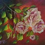 Overhanging Roses Poster