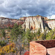 Overlook In Zion National Park Upper Plateau Poster