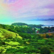 Overlooking San Francisco Bay Poster