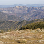 Overlooking Santa Paula Canyon Poster