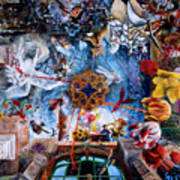 Owatonna Art Center Mural Poster by Lynette Yencho